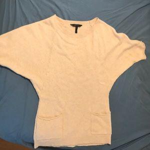 BCBG MAXAZRIA sweater tunic - cream - size M
